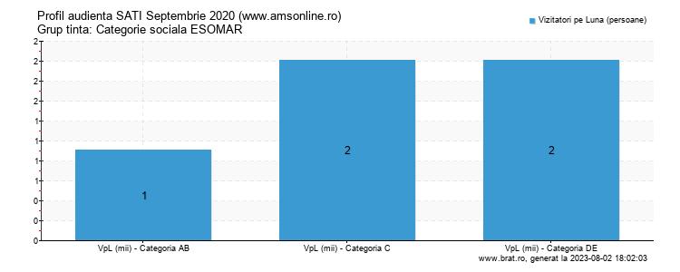 Grafic profil audienta - www.amsonline.ro